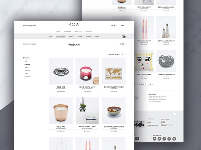 KOA Web store store interior shop fashion ux website ui webdesign web