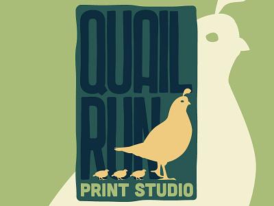 Quail Run Print Studio Logo logo skinnyd branding quail