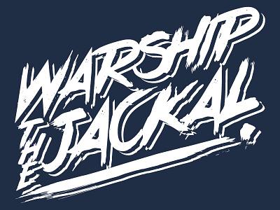 Warship the Jackal logo lettering band
