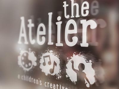 The Atelier Logo Design up mock atelier branding children design logo graphic design skinnyd