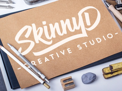 New Logo Design up mock studio creative design logo graphic design skinnyd