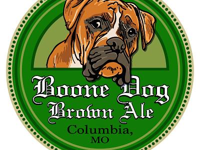 Boone Dog Brown Ale Logo skinnyd brewery brew boone ale dog brown label beer graphic design