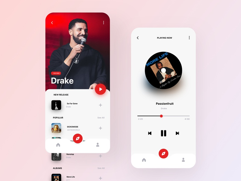 Music Player player ui concept floating minimalism minimalist interface minimalistic minimal artists artist app clean ui clean music app ui music player app music app player music player ui music player music