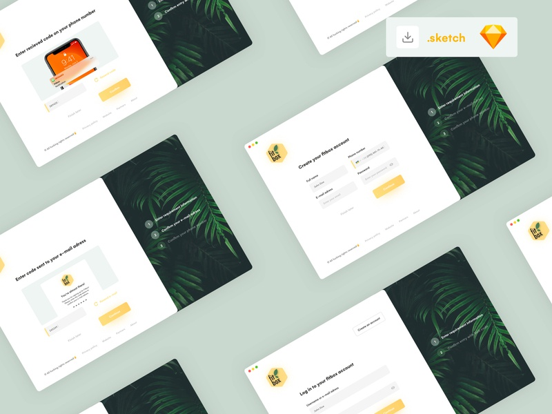 Login process account create entry signup sign in log in screen green onboarding onboarding screens onboarding ui ui design yellow vector uiux app design ui interface clean