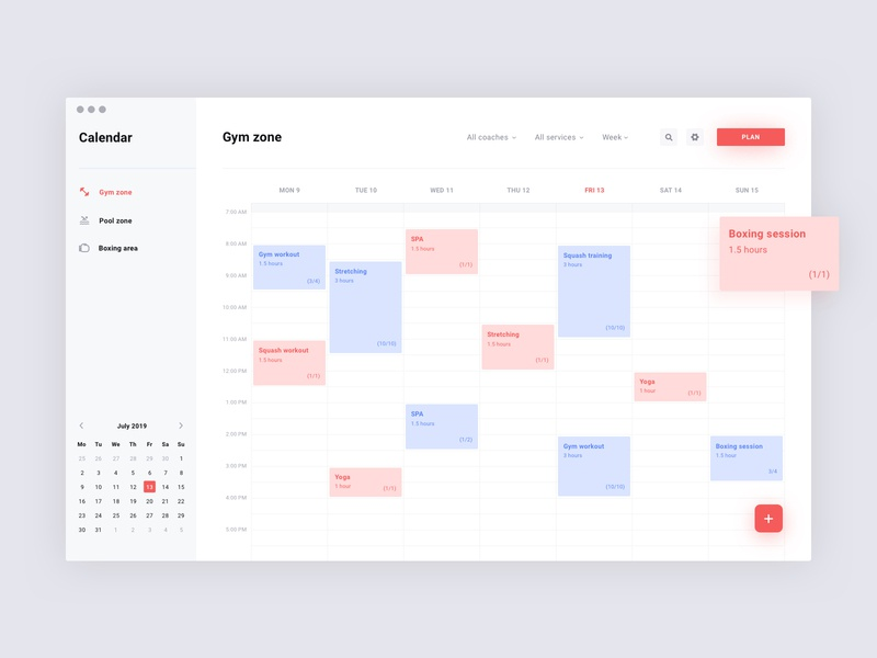 Workout scheduling (Light mode) minimal simple brandnew schedule app calendar dashboard scheduler schedule scheduling uiux design app ui interface clean