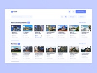 Admin panel for sale and rent real estate