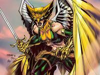 Coloring Jim Lee's Hawkgirl