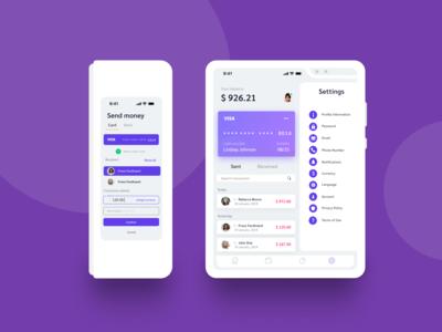Galaxy Fold - Payment App UI Design