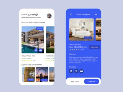 Hotel reservation app UI Design