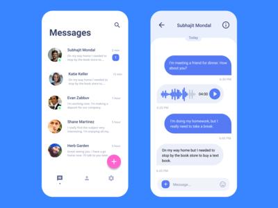 Facebook Messenger concept User Interface