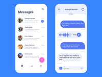 Facebook Messenger concept User Interface