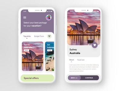 Tours and Travel App freebie free download holidays vacation mockup psd iphone mockups expedia travel tours mockup invite dribbble app ux 2d branding ui figma design