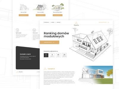 Nestio - web design developement elementor-pro elementor home ranking uidesign ui  ux logo strona www webdesign ux creative ui design
