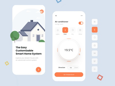 Smart home app concept air automation designapp uiux clean mobile app mvp smart app design controller minimal home smartapp smarthome creative dribbble ux ui light