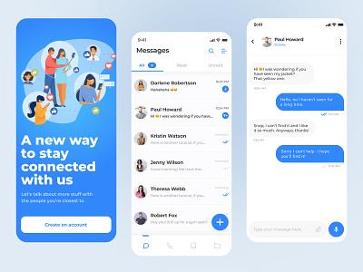💬 Messenger App mobile design minimal clean design aplication app mobile app mobile mobile ui uiux ux ui chat application message app messager messaging messages chat app chat message
