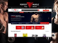 Perfect Muscle - web design