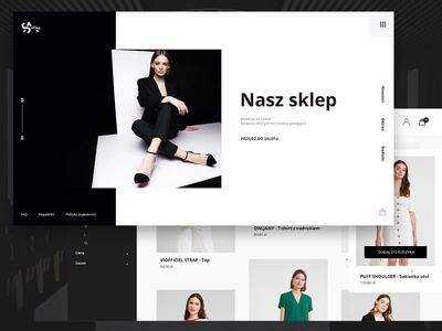 SA shop - Fashion Store, Lookbook Page