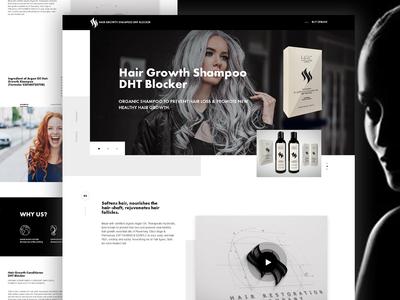 Hair Landing Page - Web UI