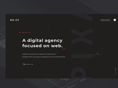 Pix Art - design agency design agency vector agency website agency web agency developement ux creative dribbble design ui webdesign