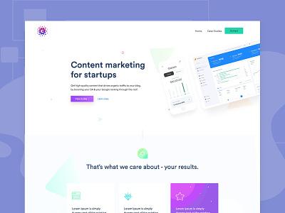 SEO Marketing Agency Landing Page branding seo services seo company landingpage seo marketing ux strona www creative dribbble ui design webdesign