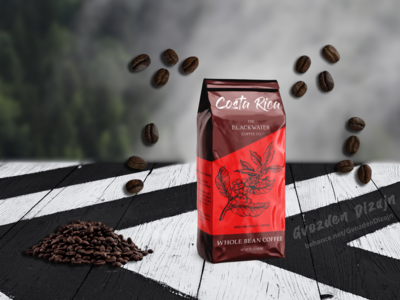 Coffee bag packaging label design