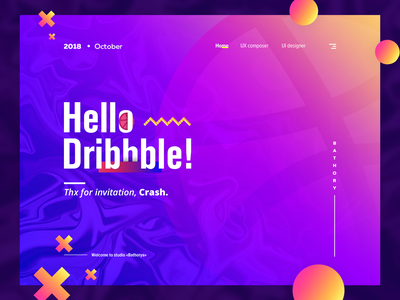 My first shot. Hello Dribbble! graphic hello dribbble ux web typography ui design