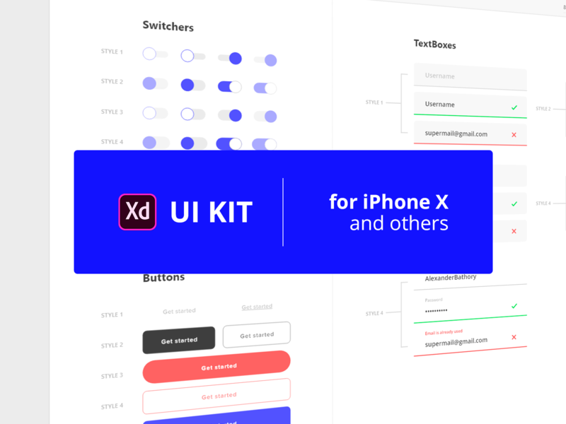 Free UI kit #1 by Alexander Bathory on Dribbble