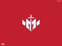 M + Sword Logo