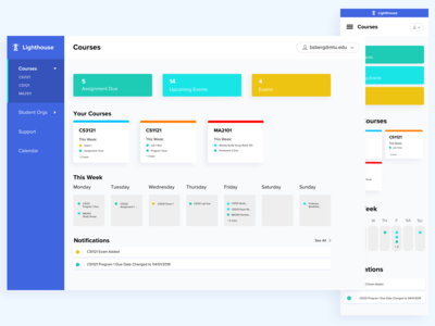 School Dashboard Concept