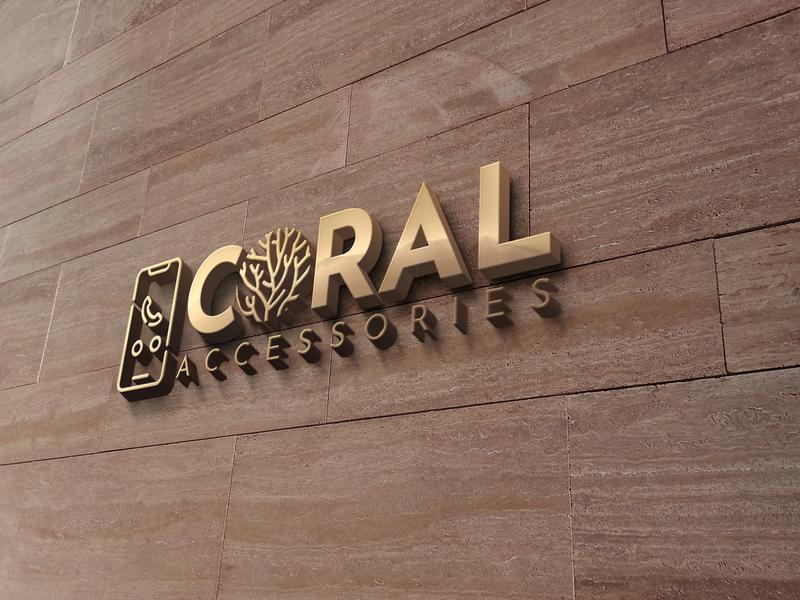 Coral 3D Logo logo app logo graphic design