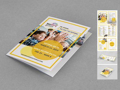 Breakdown of school projects broshure