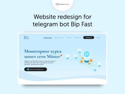 Bip Fast Landing page design