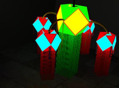 Blender - Vesak Lanterns digital art blender3d