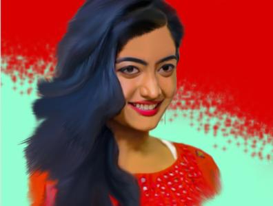 Smudge paint - Anushika Mandanna photoshop colorful