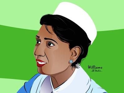 Pushpa Ramyani De Soysa portrait colorful ai design illustrator