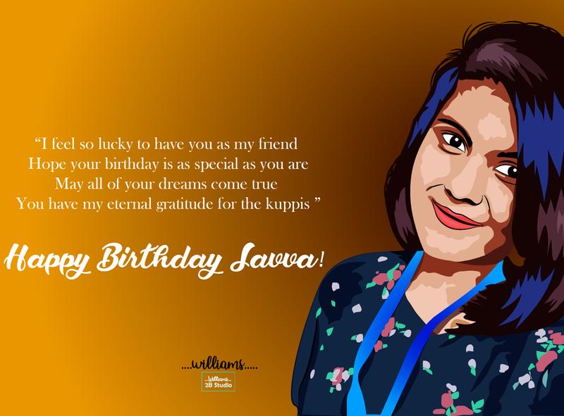 Birth Day wish Gift (Vector Portrait) unique portrait face background illustrator colorful