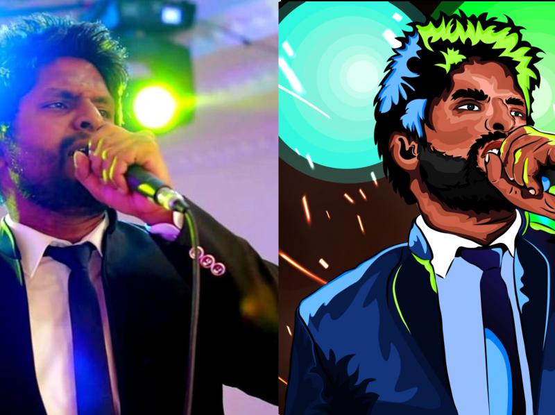 Original vs Vector portrait (Illustrator) portrait face vector background ai colorful illustrator