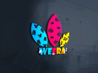 weera Logo cakeshop cakes slippers shoes shirt yellow blue red logo ai vector unique design illustrator