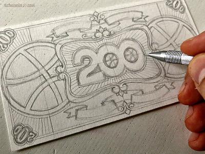 200 Dollowers - start work in progress tribute dribbble design currency
