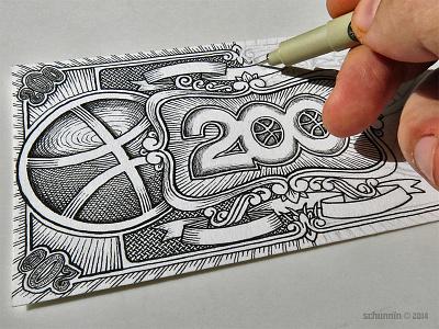200 Dollowers - working design dribbble work in progress tribute currency