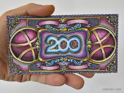 200 Dollowers - final design dribbble tribute currency final