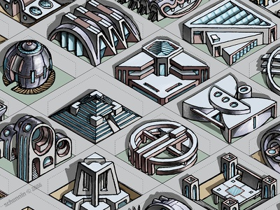 Designville architecture concept game art ui design