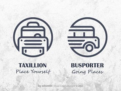 Taxi & Bus icon design game ui simple