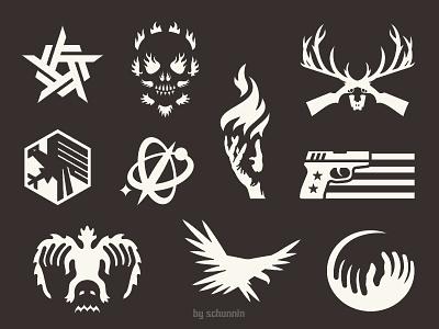 Signs, Zwei, Drei... simple design final icon logo