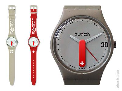 Swatchinox watch swatch clock victorinox tribute