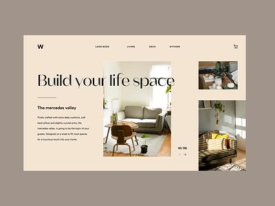 Furniture e-commerce design concept branding furniture design e-commerce furniture designinspiration design