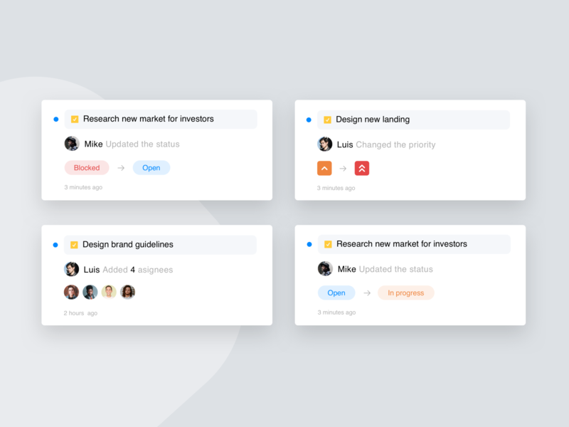 Project Management Tool - Cards design exploration card ux uxui ux design uidesign project management tool project managment pm designinspiration design design exploration
