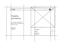 Architecture agency landing page - Wireframes