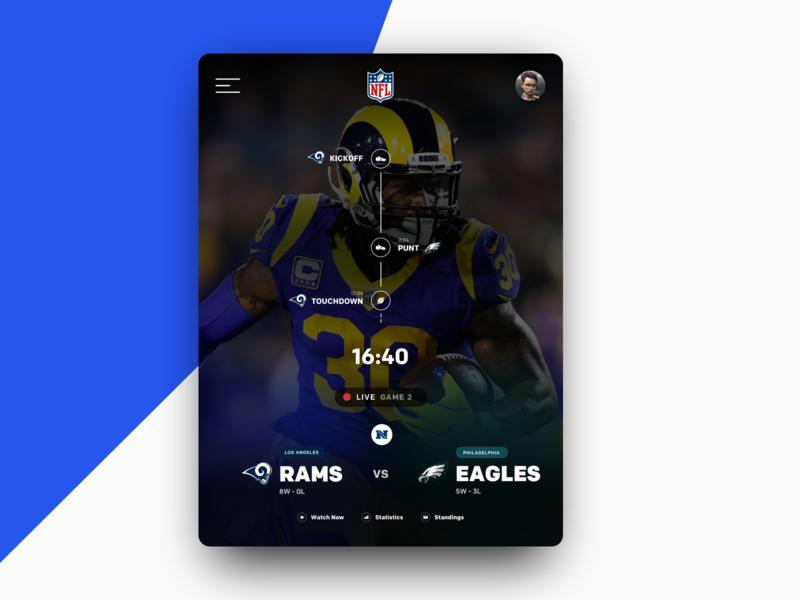 NFL Game preview 2hr Challenge app football nfl designinspiration typography ux ui design ux ux designer ux-design ux-ui ui mockup design designer