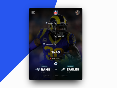NFL Game preview 2hr Challenge app football nfl designinspiration typography ux ui design ux ux designer ux-design ux-ui ui mockup design designer